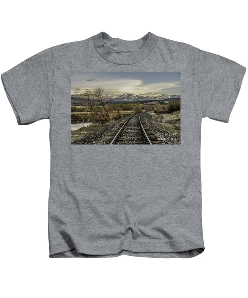 Curve In The Tracks Kids T-Shirt