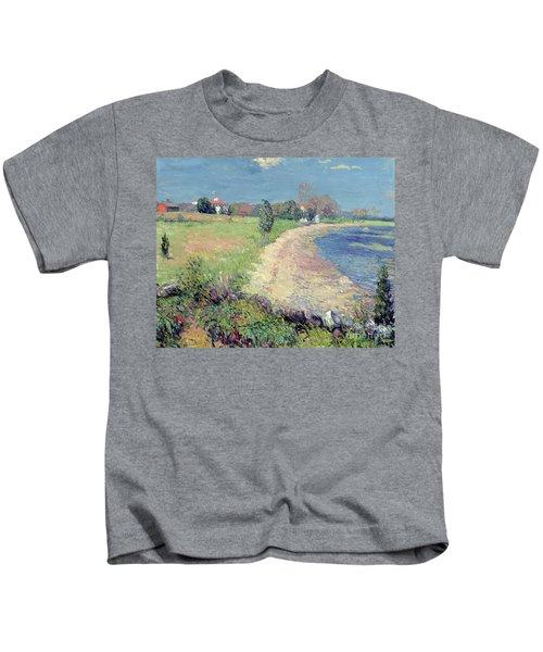 Curving Beach Kids T-Shirt