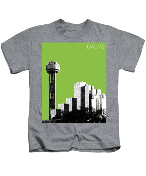 Dallas Skyline Reunion Tower - Olive Kids T-Shirt