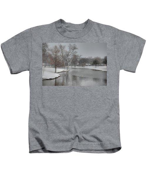 Dallas Snow Day Kids T-Shirt