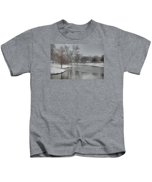 Dallas Snow Day Kids T-Shirt