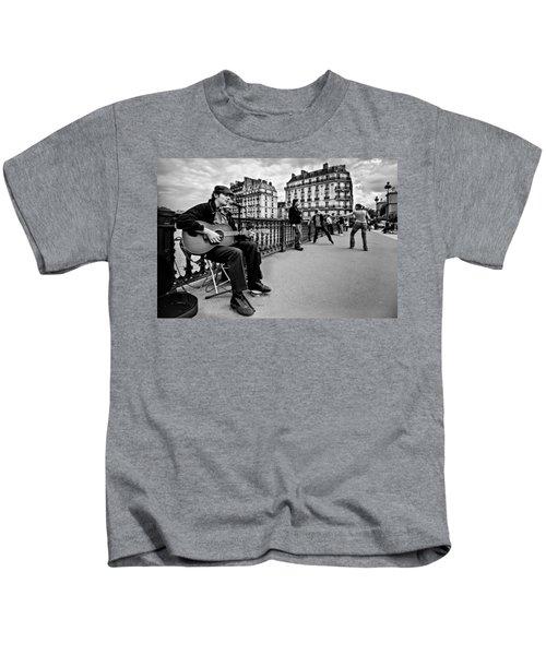 Dancing In The Streets Of Paris / Paris Kids T-Shirt