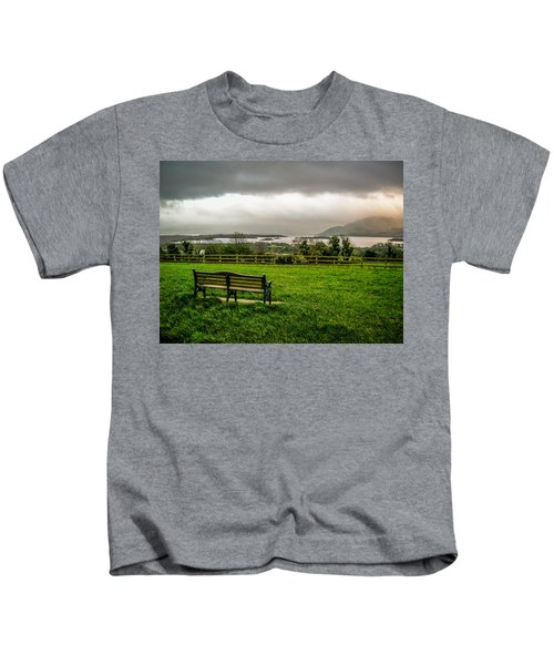 Dark Clouds Over Killarney Lakes Kids T-Shirt