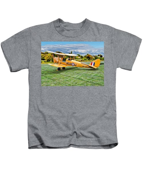 De Havilland Dh82 Tiger Moth Kids T-Shirt