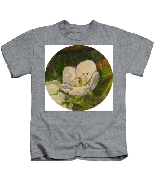 Dew Of Pear's Blooms Kids T-Shirt