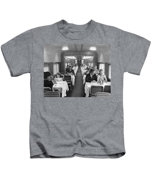 Diners In Railroad Dining Car Kids T-Shirt