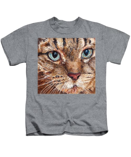 Domestic Tabby Cat Kids T-Shirt