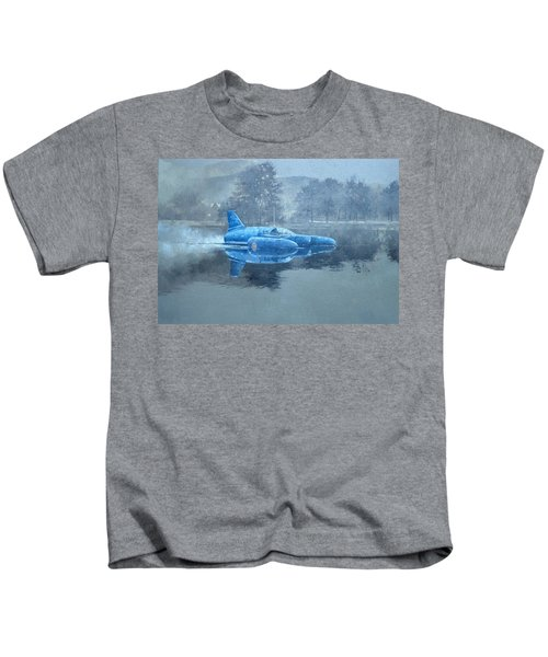 Donald Campbell And Bluebird Oil On Canvas Kids T-Shirt
