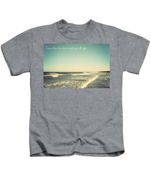 Down The Shore Seaside Heights Vintage Quote Kids T-Shirt