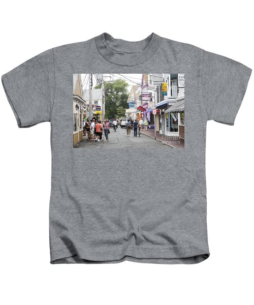 Downtown Scene In Provincetown On Cape Cod In Massachusetts Kids T-Shirt