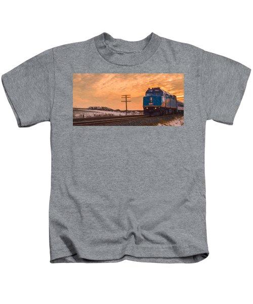 Downtown Train Kids T-Shirt