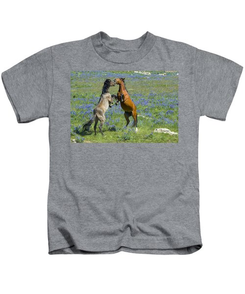 Dueling Mustangs Kids T-Shirt
