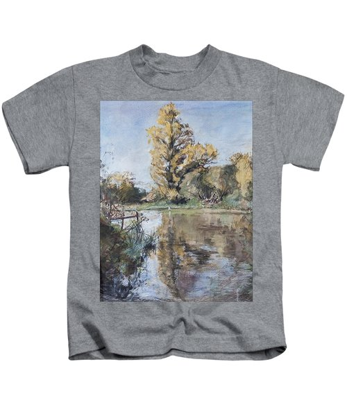 Early Autumn On The River Test Kids T-Shirt