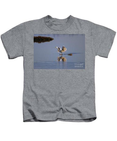 Egret Reflections Kids T-Shirt