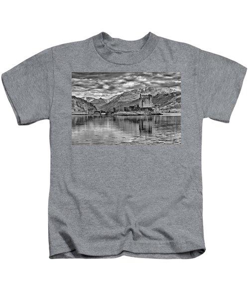 Eilean Donan - A Reflection Without Colour Kids T-Shirt