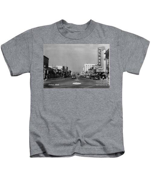 El Rey Theater Main Street Salinas Circa 1950 Kids T-Shirt