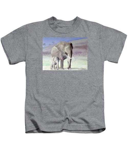 Elephant Family Kids T-Shirt