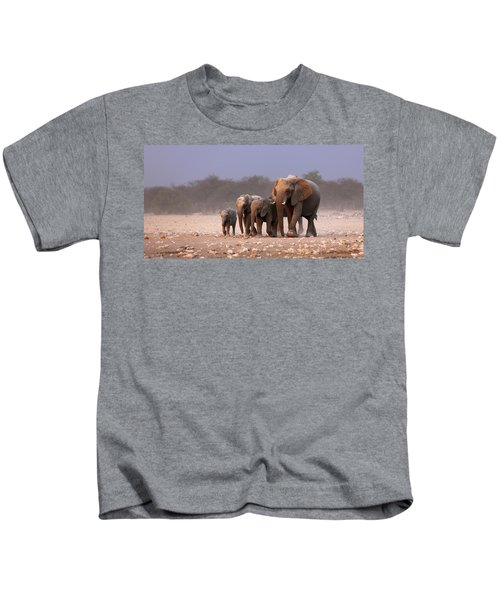Elephant Herd Kids T-Shirt