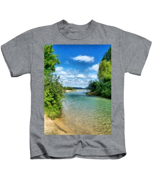 Elk River- Elk Rapids Michigan Kids T-Shirt