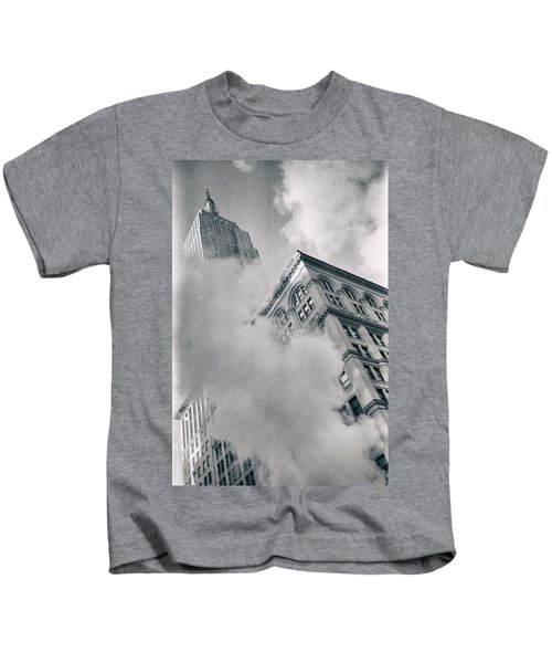 Empire State Building And Steam Kids T-Shirt