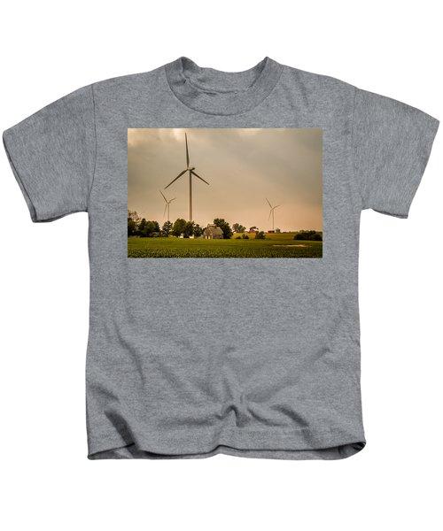 Farms And Windmills Kids T-Shirt