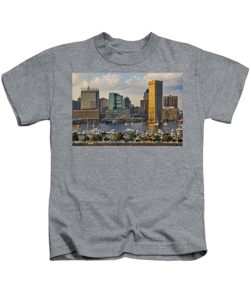 Federal Hill View To The Baltimore Skyline Kids T-Shirt