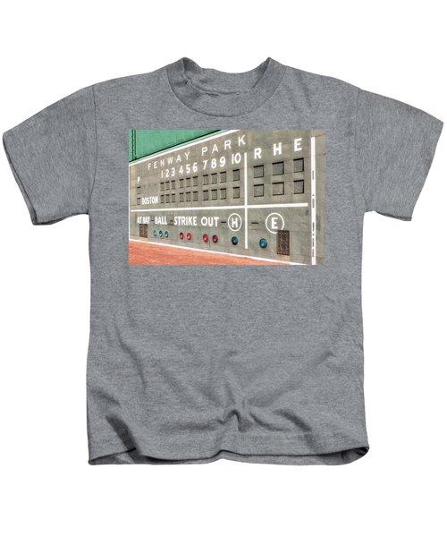 Fenway Park Scoreboard Kids T-Shirt