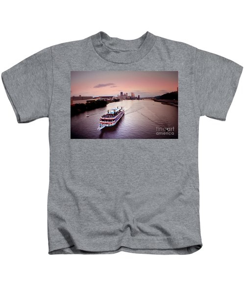 Ferry Boat At The Point In Pittsburgh Pa Kids T-Shirt