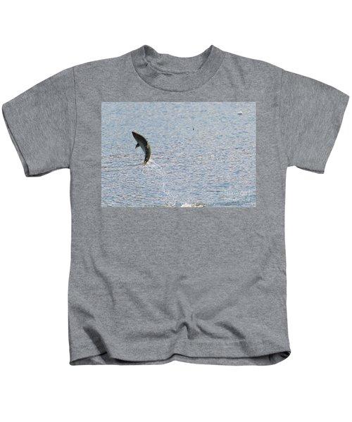 Fighting Chinook Salmon Kids T-Shirt