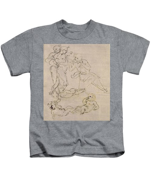 Figural Study For The Adoration Of The Magi Kids T-Shirt