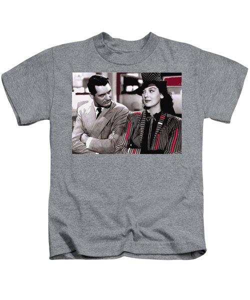 Film Homage Cary Grant Rosalind Russell Howard Hawks His Girl Friday 1940-2008 Kids T-Shirt