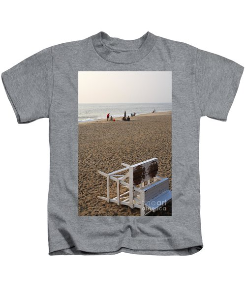 First On The Beach At Bethany Beach In Delaware Kids T-Shirt