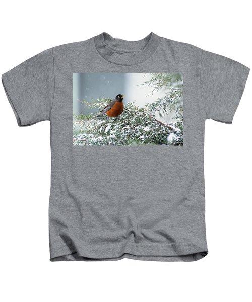 First Robin Turdus Migratorius Kids T-Shirt