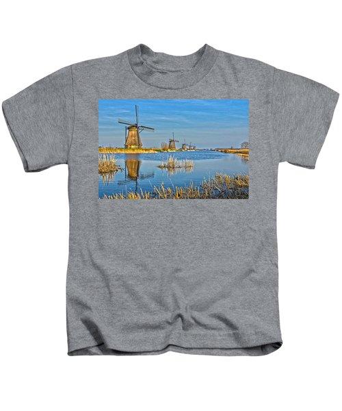 Five Windmills At Kinderdijk Kids T-Shirt