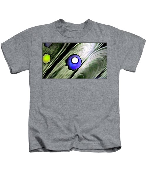 Floating Dot Abstract Alcohol Inks Kids T-Shirt