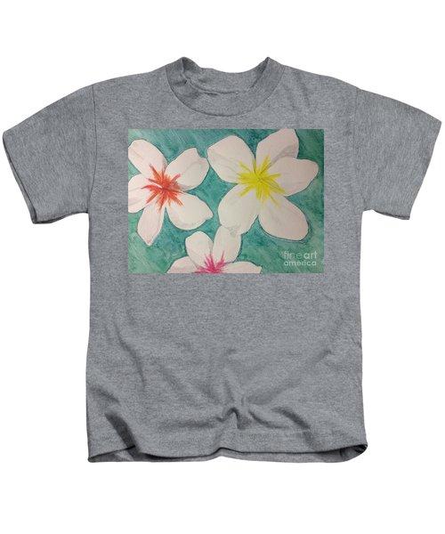 Floating Plumeria Kids T-Shirt
