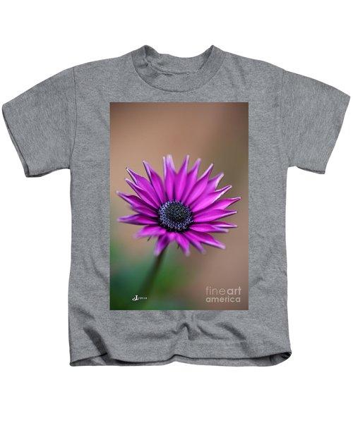 Flower-daisy-purple Kids T-Shirt