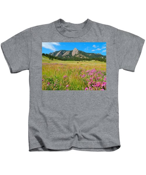 The Flatirons Colorado Kids T-Shirt