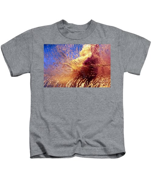 Flowers In Ice Kids T-Shirt