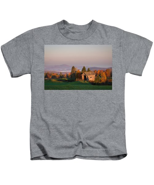 Fog In The Valley Kids T-Shirt