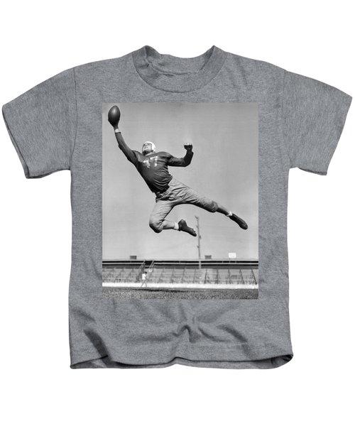 Football Player Catching Pass Kids T-Shirt