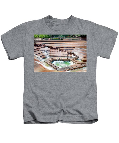 Fort Worth Water Garden V7 Kids T-Shirt