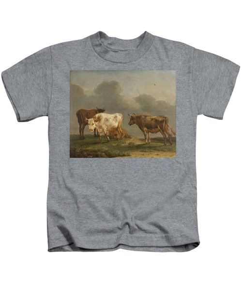 Four Cows In A Meadow Kids T-Shirt