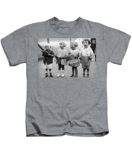 Four Young Children Singing Kids T-Shirt