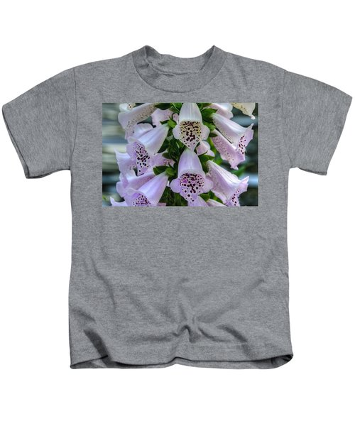 Foxglove At Waters Edge Kids T-Shirt