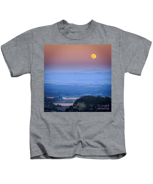 Full Moon Over Vejer Cadiz Spain Kids T-Shirt