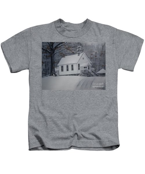 Gates Chapel - Ellijay - Signed By Artist Kids T-Shirt