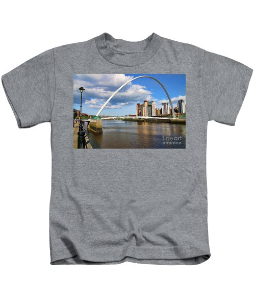 Gateshead Millenium Bridge In Newcastle 6206 Kids T-Shirt