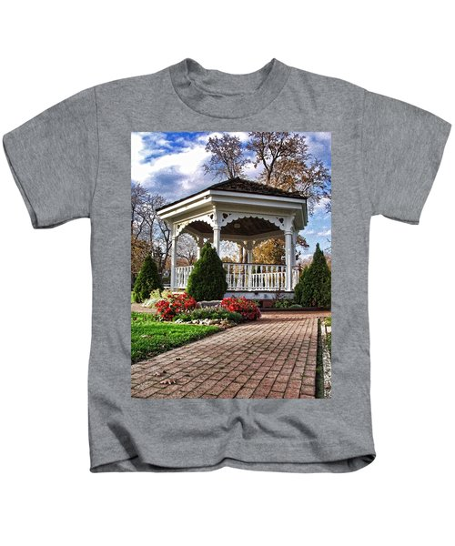 Gazebo At Olmsted Falls - 3 Kids T-Shirt