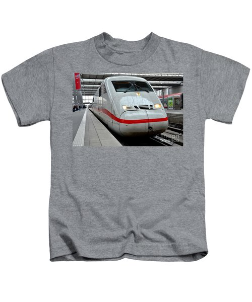 German Ice Intercity Bullet Train Munich Germany Kids T-Shirt